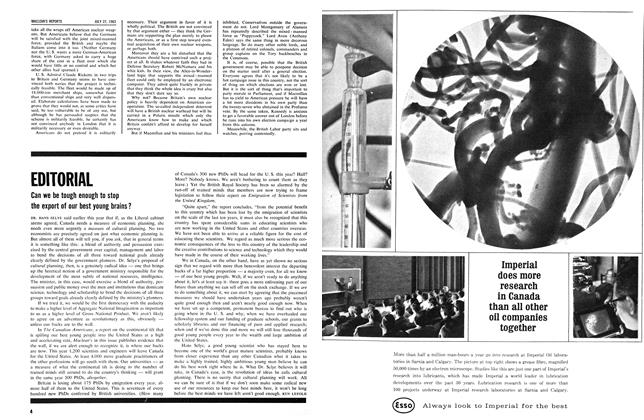 Article Preview: EDITORIAL, July 1963 | Maclean's