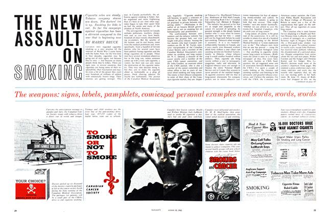 Article Preview: THE NEW ASSAULT ON SMOKING, August 1963 | Maclean's