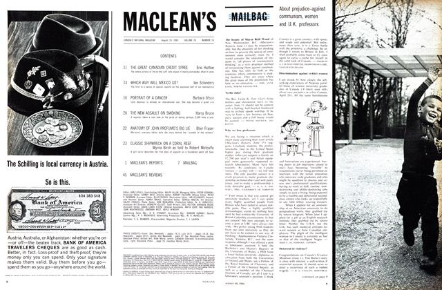 Article Preview: MAILBAG, August 1963 | Maclean's