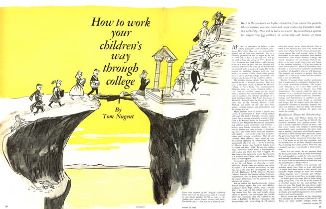 Article Preview: How to work your children's way through college, August 1963 | Maclean's
