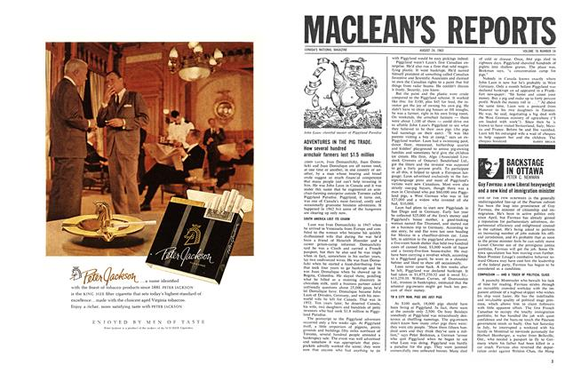 Article Preview: BACKSTAGE IN OTTAWA, August 1963 | Maclean's