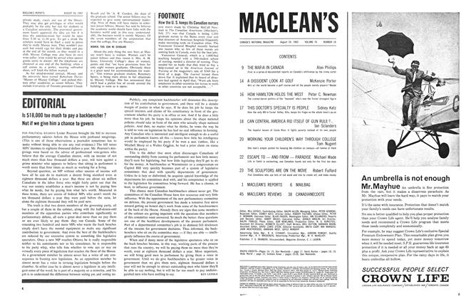 Article Preview: Is $18,000 too much to pay a backbencher ? Not if we give him a chance to govern, August 1963 | Maclean's