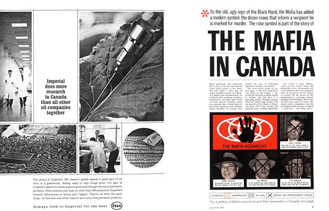 Article Preview: THE MAFIA IN CANADA, August 1963 | Maclean's