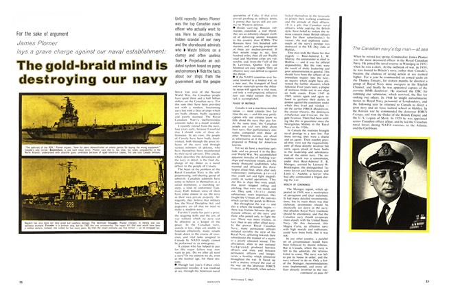 Article Preview: The gold-braid mind is destroying our navy, September 1963 | Maclean's