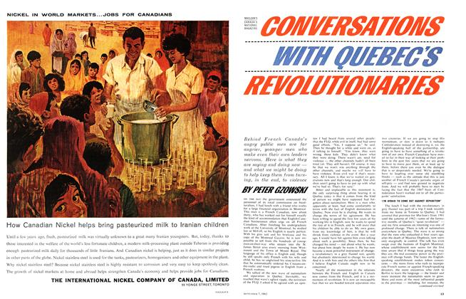 Article Preview: CONVERSATIONS WITH QUEBEC'S REVOLUTIONARIES, September 1963 | Maclean's