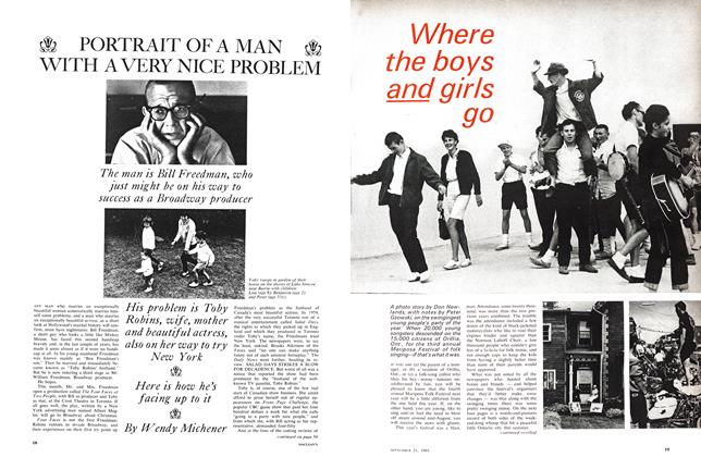 Article Preview: Where the boys and girls go, September 1963 | Maclean's