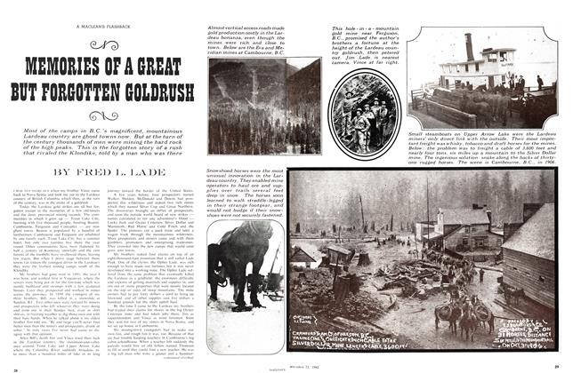 Article Preview: MEMORIES OF A GREAT BUT FORGOTTEN GOLDRUSH, September 1963 | Maclean's