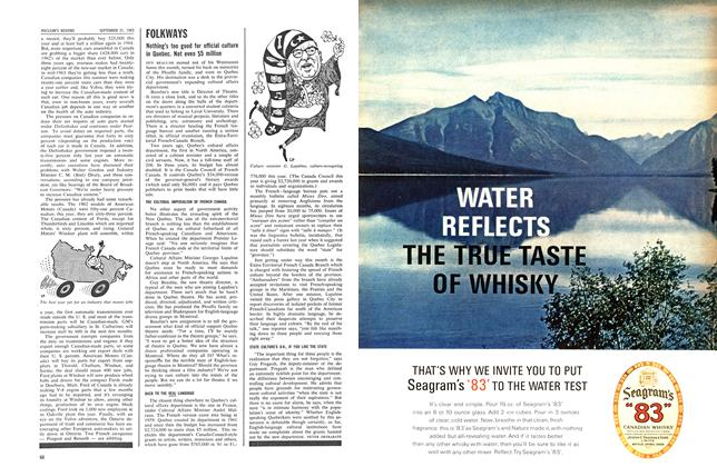 Article Preview: FOLKWAYS, September 1963 | Maclean's
