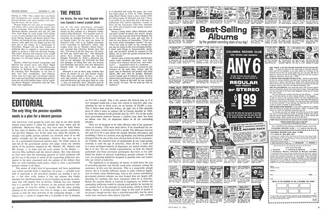 Article Preview: EDITORIAL, September 1963 | Maclean's