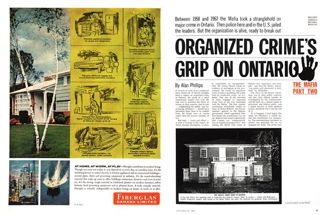 Article Preview: ORGANIZED CRIME'S GRIP ON ONTARIO, September 1963 | Maclean's