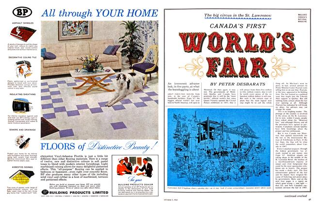 Article Preview: CANADA'S FIRST WORLD'S FAIR, October 1963 | Maclean's
