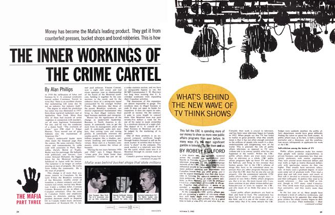Article Preview: WHAT'S BEHIND THE NEW WAVE OF TV THINK SHOWS, October 1963 | Maclean's