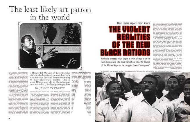 Article Preview: THE VIOLENT REALITIES OF THE NEW BLACK NATIONS, October 1963 | Maclean's