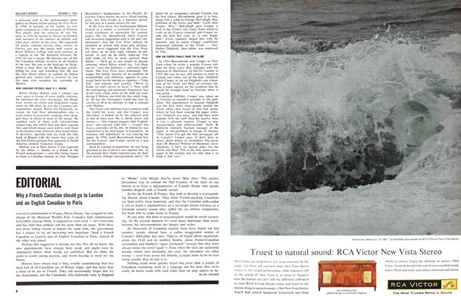 Article Preview: EDITORIAL, October 1963 | Maclean's