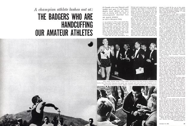 Article Preview: A champion athlete lashes out at: THE BADGERS WHO ARE HANDCUFFING OUR AMATEUR ATHLETES, October 1963 | Maclean's
