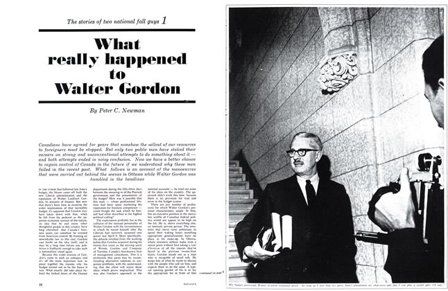 Article Preview: What really happened to Walter Gordon, October 1963 | Maclean's