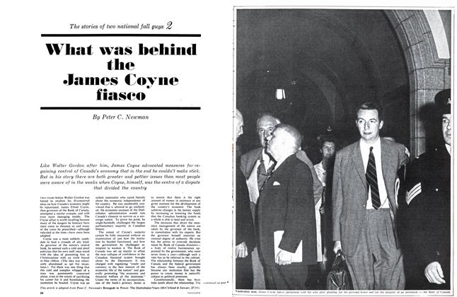 Article Preview: What was behind the James Coyne fiasco, October 1963 | Maclean's