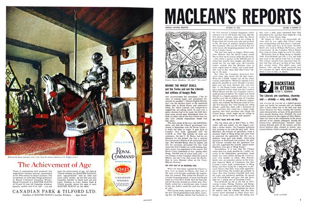 Article Preview: BACKSTAGE IN OTTAWA, October 1963 | Maclean's