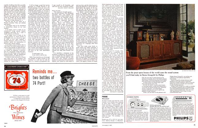 Article Preview: Blue pencil, November 1963 | Maclean's