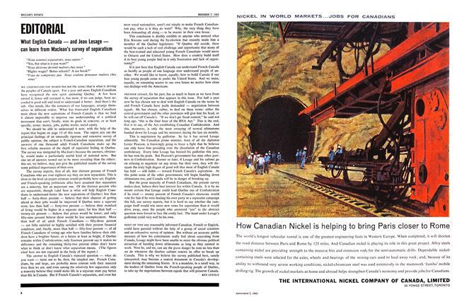 Article Preview: EDITORIAL, November 1963   Maclean's