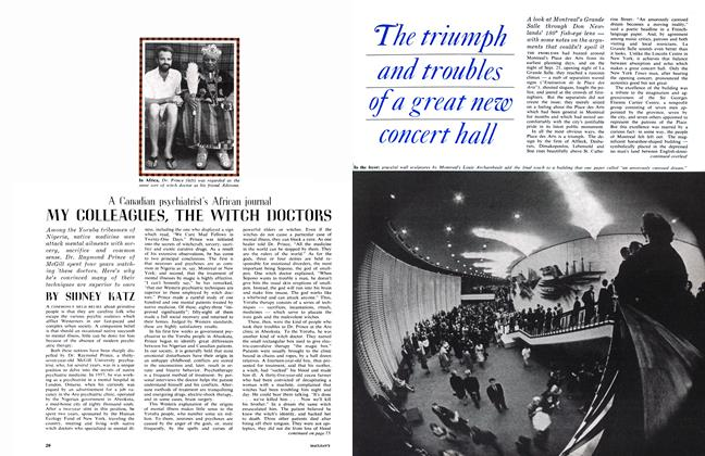 Article Preview: MY COLLEAGUES, THE WITCH DOCTURS, November 1963 | Maclean's