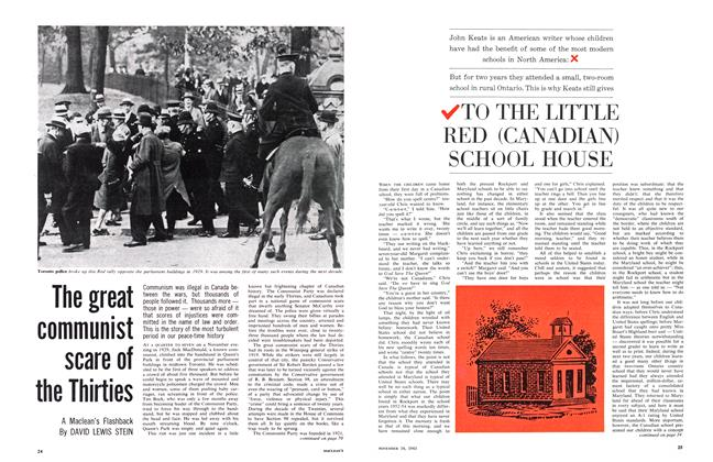 Article Preview: TO THE LITTLE RED (CANADIAN) SCHOOL HOUSE, November 1963 | Maclean's