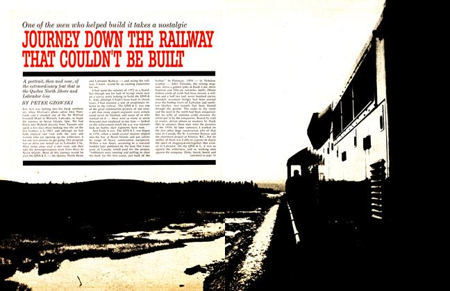 Article Preview: JOURNEY DOWN THE RAILWAY THAT COULDN'T BE BUHT, November 1963 | Maclean's