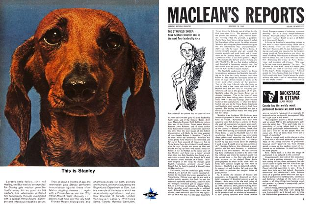 Article Preview: BACKSTAGE IN OTTAWA, November 1963   Maclean's