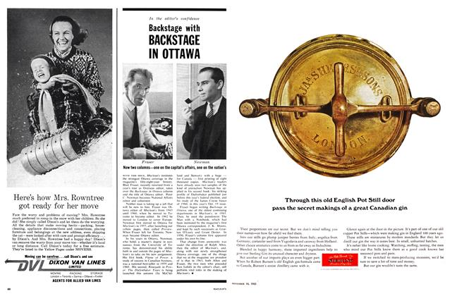 Article Preview: Backstage with BACKSTAGE IN OTTAWA, November 1963 | Maclean's