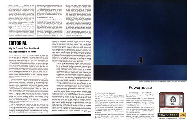 Article Preview: EDITORIAL, November 1963 | Maclean's