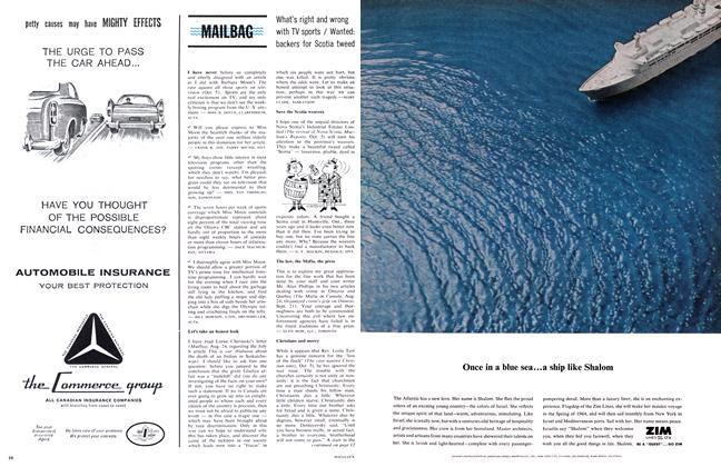 Article Preview: MAILBAG, November 1963 | Maclean's