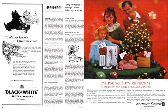 Article Preview: MAILBAG, December 1963 | Maclean's