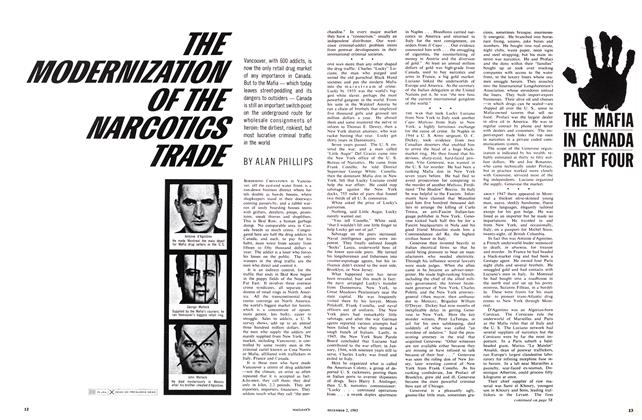Article Preview: THE MODERNIZATION OF THE MARCOTICS TRADE, December 1963 | Maclean's