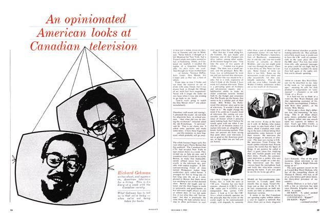 Article Preview: An opinionated American looks at Canadian television, December 1963 | Maclean's