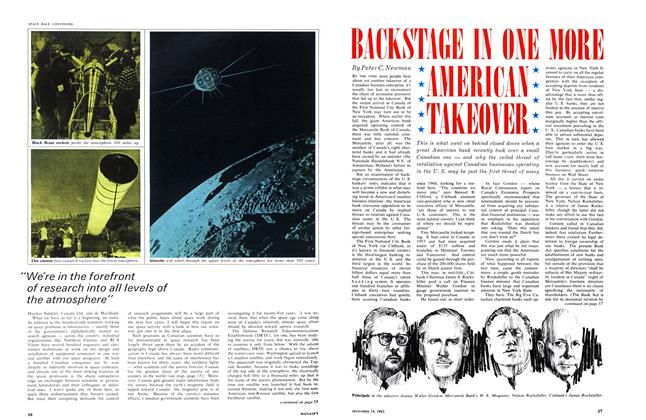 Article Preview: BACKSTAGE IN ONE MORE AMERICAN TAKEOVER, December 1963 | Maclean's