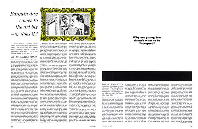 Article Preview: Bargain day com es to the art bizor does it?, December 1963 | Maclean's