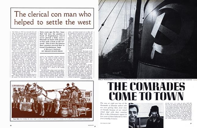 Article Preview: THE COMRADES COME TO TOWN, December 1963 | Maclean's