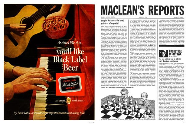 Article Preview: Douglas Harkness: the lonely ordeal of a Tory rebel, January 1964 | Maclean's