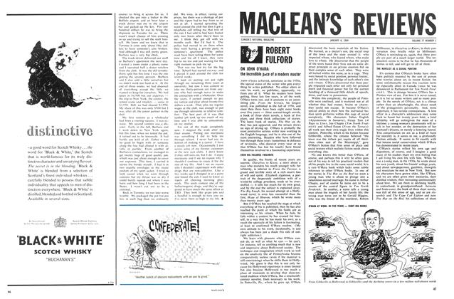 Article Preview: ON JOHN O'HARA: the incredible pace of a modern master, January 1964 | Maclean's