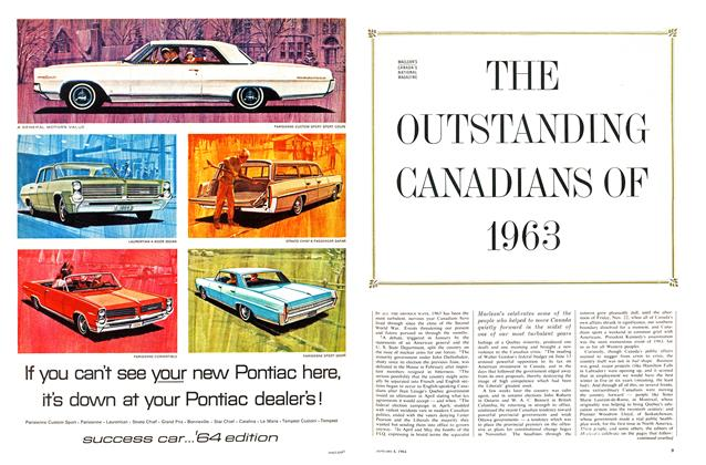 Article Preview: THE OUTSTANDING CANADIANS OF 1963, January 1964 | Maclean's