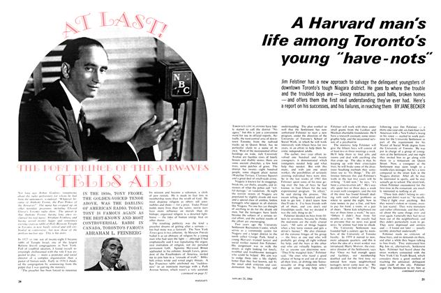 "Article Preview: A Harvard man's life among Toronto's young ""have-nots"", January 1964 