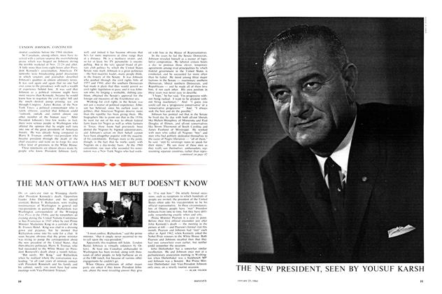 Article Preview: THE MAN OTTAWA HAS MET BUT DOESN'T KNOW, January 1964 | Maclean's