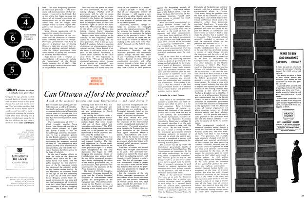 Article Preview: Can Ottawa afford the provinces?, February 1964 | Maclean's