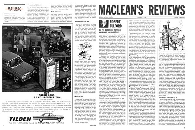Article Preview: ROBERT FULFORD, February 1964 | Maclean's