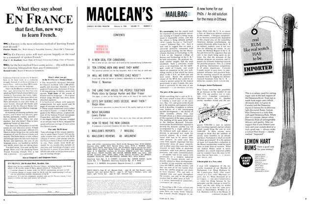 Article Preview: MAILBAG, February 1964 | Maclean's