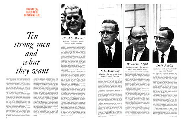 Article Preview: Ten strong men and what they want, February 1964 | Maclean's