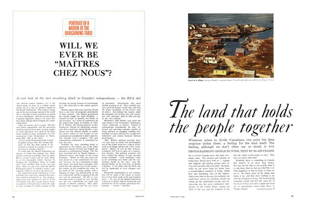 Article Preview: The land that holds the people together, February 1964 | Maclean's