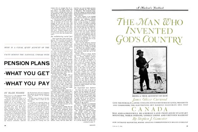 Article Preview: PENSION PLANS WHAT YOU GET WHAT YOU PAY, February 1964 | Maclean's