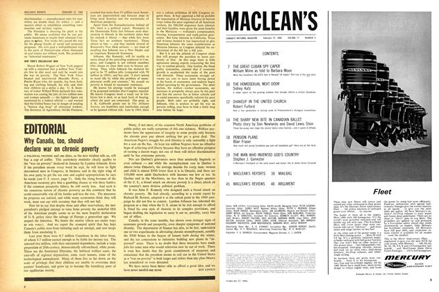 Article Preview: EDITORIAL, February 1964 | Maclean's