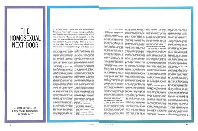 Article Preview: THE HOMOSEXUAL NEXT DOOR, February 1964 | Maclean's